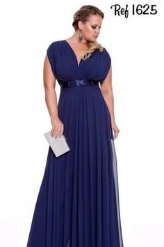 Resultado de imagen para vestidos de festa azul plus size