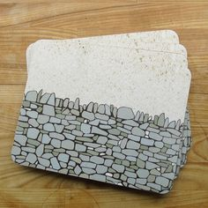 Dry Stone Wall Placemats A Gorgeous Neutral Grey And Blue Design Inspired By Firm