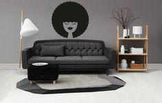 Aphro Hair Wall Decal  Woman Face Vinyl Wall by FairytaleYourWall