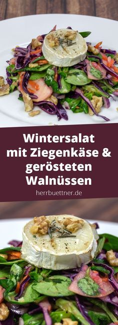 Mein Winter-Wonder-Weihnachtssalat … Recipe: Winter salad with red cabbage, apple, lamb's lettuce, goat cheese and roasted walnuts with orange dressing. Healthy Salad Recipes, Healthy Snacks, Vegetarian Recipes, Avocado Recipes, Roasted Walnuts, Breakfast Salad, Corn Salads, Red Cabbage, Winter Wonder