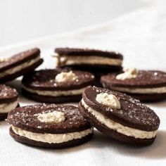 Chocolate Shortbreads with Malted Milk Buttercream are crunchy, creamy, and luscious kid favourites. Recipe and tutorial online.