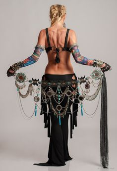This belt!!!!  Tribal Fusion Belt Tribal Belly Dance Belt - VOIR TE. $240.00, via Etsy.