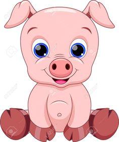 Cute Baby Pig Cartoon Royalty Free Cliparts, Vectors, And Stock Illustration. Pic Baby Pig Cartoon Royalty Free Cliparts, Vectors, And Stock Illustration. Cartoon Wall, Cute Cartoon Animals, Cartoon Pics, Cartoon Drawings, Animal Drawings, Baby Animals, Cute Animals, Cute Baby Pigs, Cute Babies