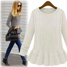 Cheap Pullovers on Sale at Bargain Price, Buy Quality sweater womens, sweater short, sweater store from China sweater womens Suppliers at Aliexpress.com:1,Material:Cotton,Rayon 2,Item Type:Pullovers 3,Color:Burgundy 4,Decoration:Ruffles 5,Material:Oxford