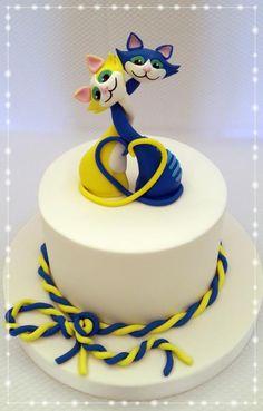 Valentine's Cats - Cake by Sveta