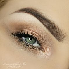 How stunning is this 'Maximum Illumination' Idea Gallery look by Diamante Make Up using Makeup Geek Shimma Shimma, Vanilla Bean and White Lies eyeshadows along with Utopia pigment.