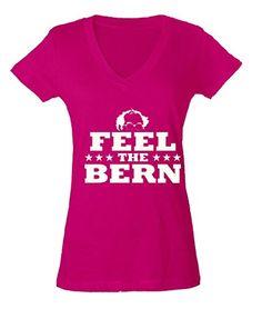 Bernie Sanders for President 2016 Ladies V-Neck T-shirt Feel The BERN Shirts Small Pink p5 Cosmozz http://www.amazon.com/dp/B01CGRVYVI/ref=cm_sw_r_pi_dp_4EN5wb1XJ93F3