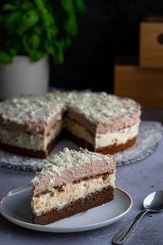 Ciasto murzynkowe z musem bananowym i kakaową pianką – Smaki na talerzu Cake Recipes, Dessert Recipes, Desserts, Quick And Easy Sweet Treats, Calzone, Food Cakes, Coleslaw, Tiramisu, Cheesecake