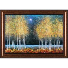 Art Effects Blue Moon by Melissa Graves-Brown Framed Painting Print