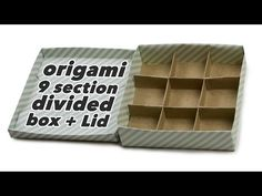 Origami 9 Section Divided Box + Lid - YouTube