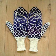 Cute butterfly mittens! 'Butterfly Wish Mittens' by Emily Bujold