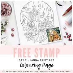 Adult Coloring, Coloring Books, Coloring Pages, Etsy Coupon Code, Coupon Codes, Fairy Art, Digital Stamps, Christmas Colors, Advent Calendar