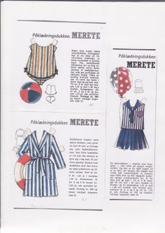 Danish paper doll clothes for Merete / dukkesiderne.dk