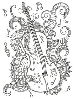 Music Adult Coloring Pages Lovely 17 Best Images About Music Coloring Pages for Adults On Coloring Book Pages, Coloring Sheets, Harley Davidson Images, Zentangle, Doodle Characters, Free Adult Coloring, Music Drawings, Deviantart, Cello