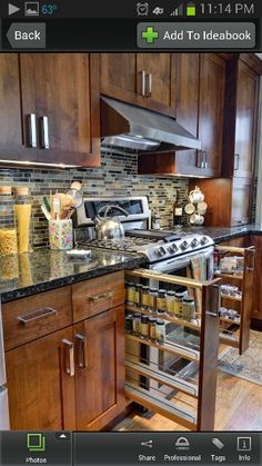 Kitchen idea...would prefer it on upper cupboards though to kidproof