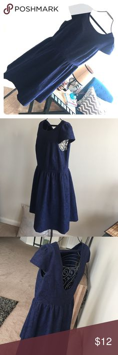 Blue BabyDoll Dress A beautiful baby doll blue dress in wonderful condition very gorgeous Forever 21 Dresses Backless