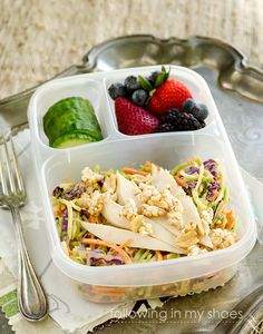 Thai Style Slaw - perfect for a healthy working lunch!