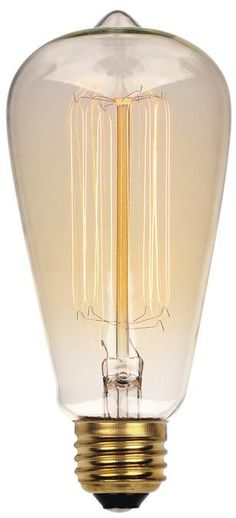 60 Watt ST20 Timeless Vintage Inspired Bulb, 2450K Clear E26 (Medium) Base, 120 Volt, Card