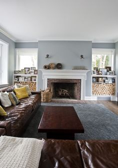 Colors Fireplaces So Much Good Stuff Going On Here Paint Benjamin Moore Timber Wolf