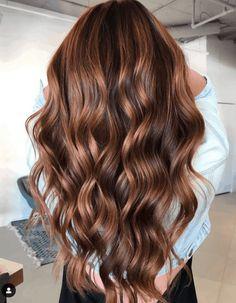 Red Balayage Hair, Brown Hair With Blonde Highlights, Brown Balayage, Hair Color Highlights, Balayage Brunette, Warm Brown Hair, Chestnut Brown Hair, Dark Hair, Brown Hair Color Shades