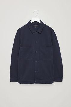COS image 4 of Twill shirt jacket in Dark Navy