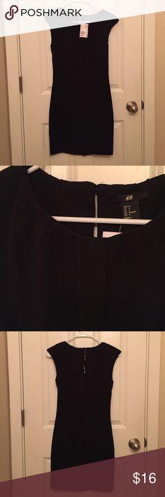 H&M black dress NWT H&M dress! Top is pleated and it has a zip closure on back! H&M Dresses Mini