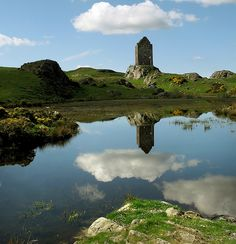 Beautiful view of Smailholm Tower, Scotland - associated with the Pringle family.
