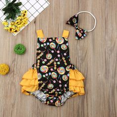 US Stock Newborn Infant Baby Girl Romper Clothes Bodysuit Outfit Summer Playsuit - 18-24 M