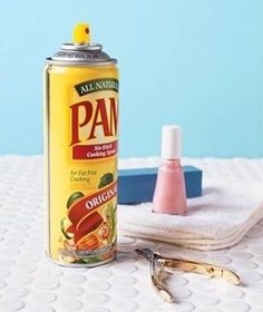 Spray nails with oil spray to prevent smudges.