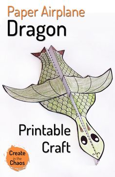 This is a lot of fun - printable dragon paper airplane craft www.createinthechaos.com