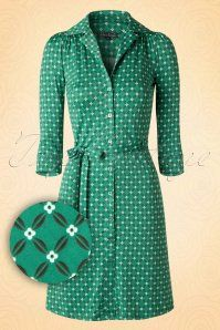 King Louie 60s Green Button Dress 106 49 15564 20150729 0007WV