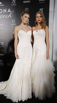 Two pretty, perfect strapless sweetheart wedding dresses by Justin Alexander - Barcelona Bridal Week 2015