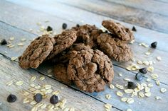 That old-fashioned oatmeal cookie made better with cocoa and dark chocolate chips!