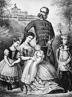Élisabeth d'Autriche frantz et leurs enfants