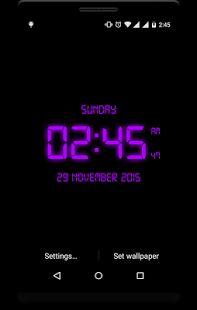 LED Digital Clock LiveWP- miniatura screenshot