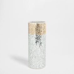 Golden and silver-plated crackled vase - Vases - Decor and pillows | Zara Home United States