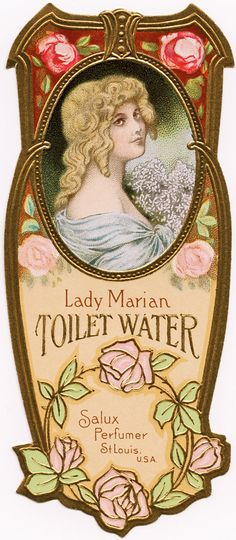 Old Design Shop ~ free digital image: Lady Marian Toilet Water label