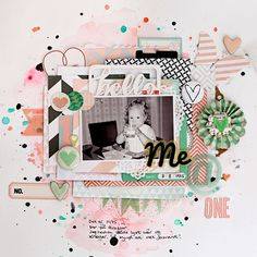 #papercraft #Scrapbook #layout.  scrapbooking with mist or ink by Christin Goslett @ shimelle.com