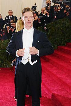 Benedict cumberbatch @met gala 2014