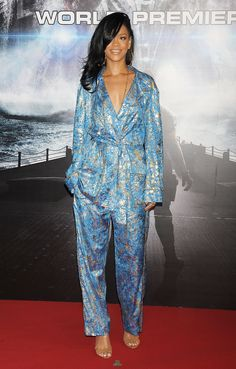 Rihanna Satin Pijamas