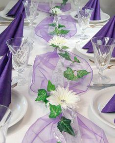 Komplette Tischdeko in lila für Kommunion/Konfirmation/Taufe etcr. in Möbel & Wohnen, Feste & Besondere Anlässe, Party- & Eventdekoration | eBay!
