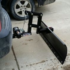 Snow Plow attaches to 2 inch receiver.  This magic was from the fires of Amazon…