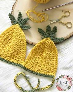 Pineapple Bralette Pattern  TCWL Boutique & Designs Crochet