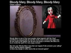 Her name three times bloody mary is very real you just have to know