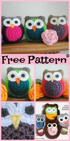 Crochet Amigurumi Patterns Crochet Amigurumi Owl Free Patterns - Everyone loves owls, and they are one of our favorite animals! So why not learn how to make a adorable Crochet Amigurumi Owl for your child ? Owl Crochet Pattern Free, Crochet Birds, Crochet Flower Patterns, Crochet Patterns Amigurumi, Cute Crochet, Crochet Designs, Crochet Crafts, Crochet Dolls, Crochet Yarn
