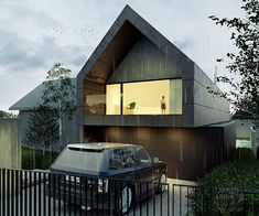 sloping site house | single-family house on Behance