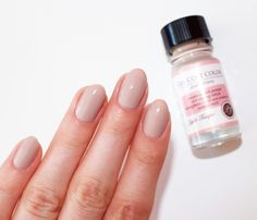 """""""I'm obsessing over Light Taupe as it gives the look of clean, neutral nails, plus it adds temporary thickness. These shades remove easily with any nail polish remover and it is recommended to remove the polish and re-apply once a week for full benefits."""" - Beauty Blogger Lauren's List"""