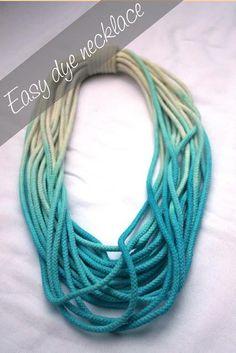 DIY dip-dye necklace tutorial: DIY Jewelry DIY Necklace