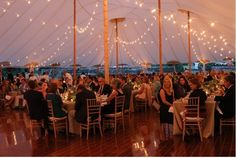 Beautiful Sperry Tent with bistro lighting and English Chestnut Flooring. & Lounging in the Hamptons under a Sperry Tent | Sperry Tents ...