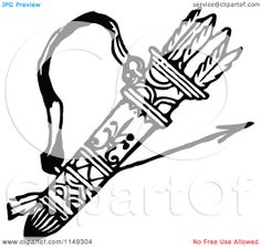 arrow quiver tattoos   ... and White Archery Quiver and Arrows - Royalty Free Vector Illustration
